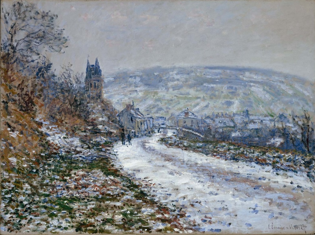 Claude Monet - Entering the Village of Vetheuil in Winter 1879