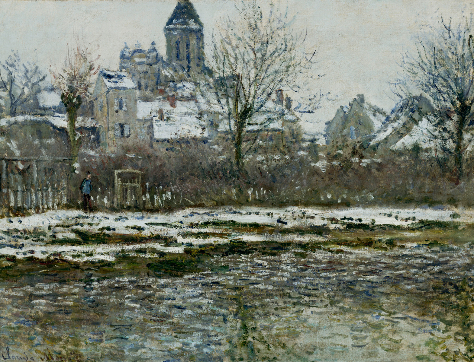 Claude Monet - The Church at Vetheuil under Snow 1879