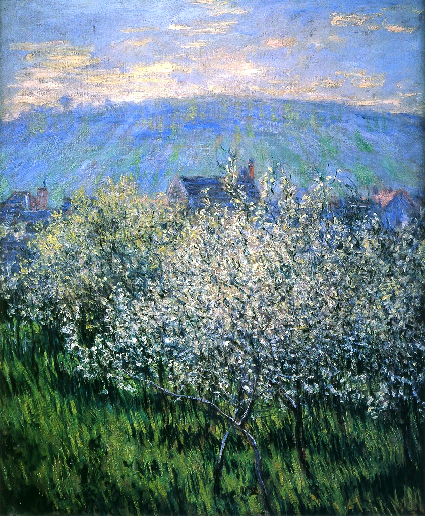 Claude Monet - Plums Blossom 1879