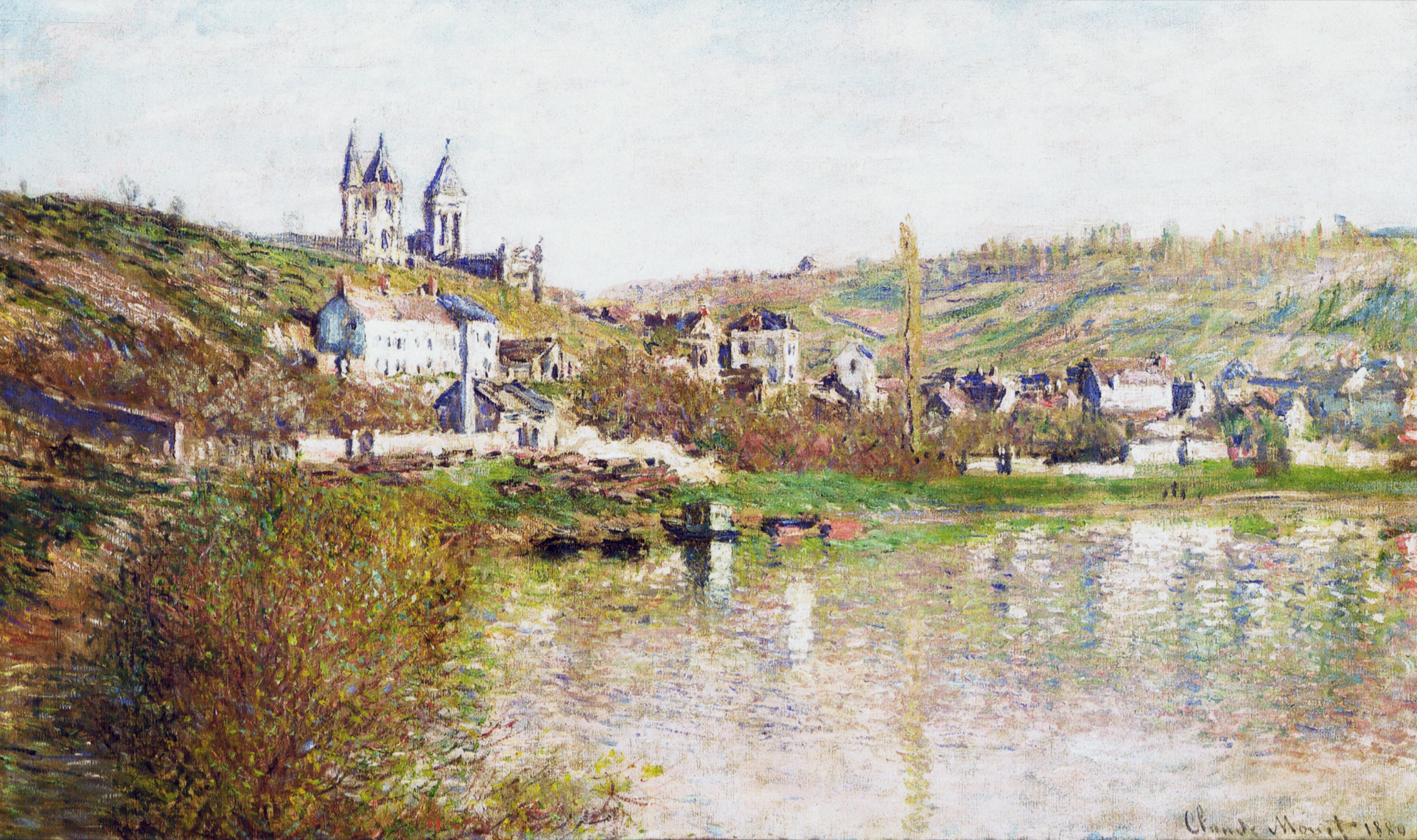 Claude Monet - The Hills of Vetheuil 1880