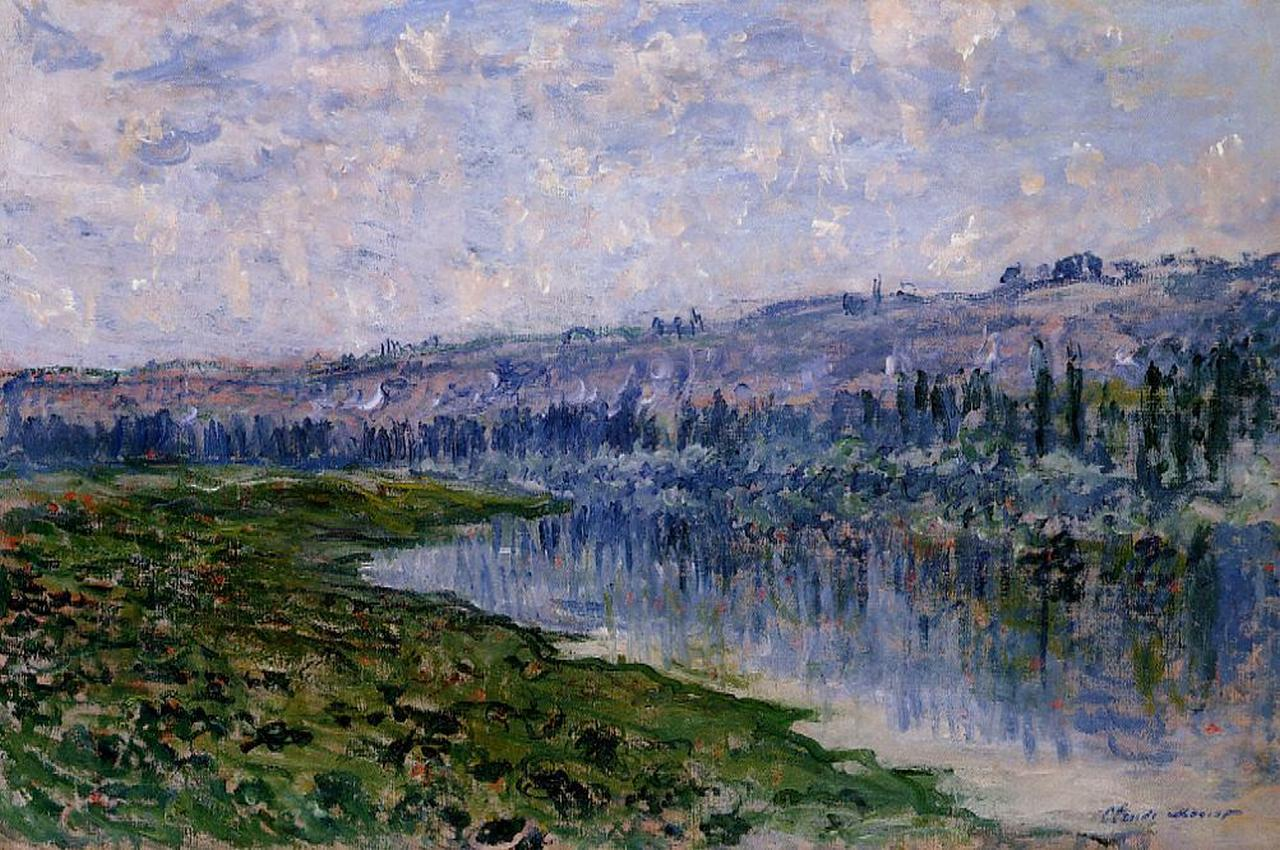 Claude Monet - The Seine and the Chaantemesle Hills 1880