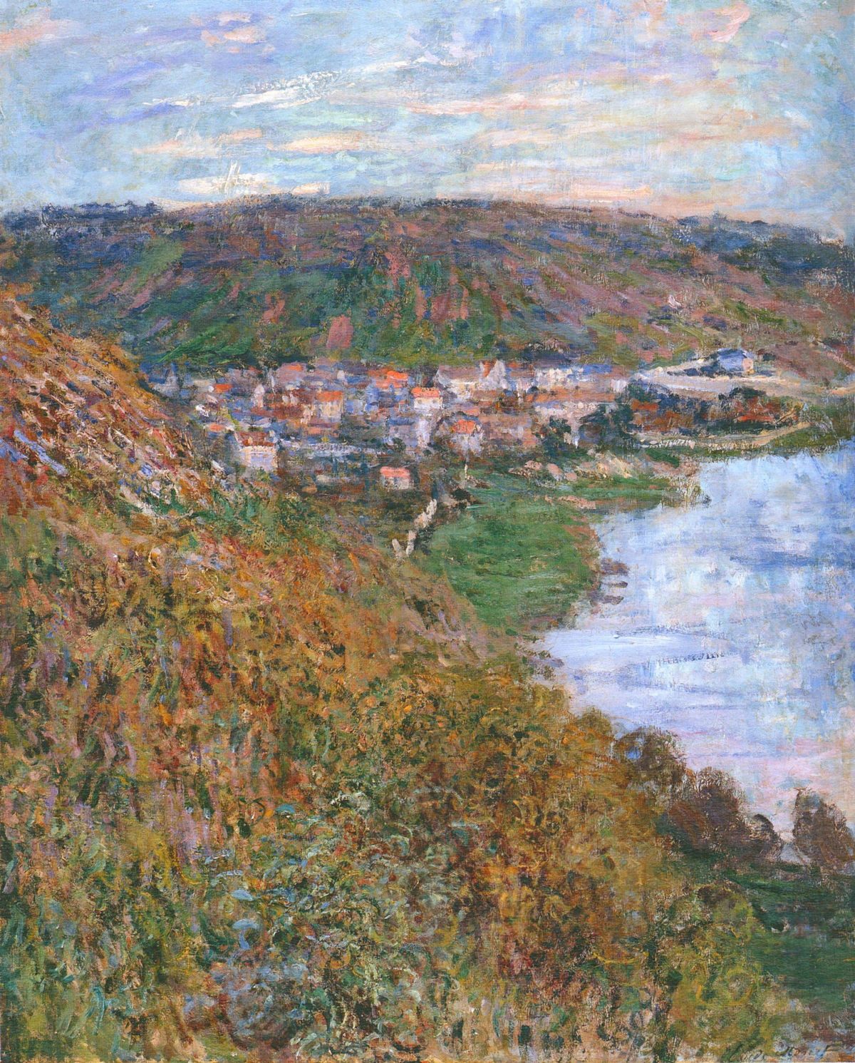 Claude Monet - View over Vetheuil 1880