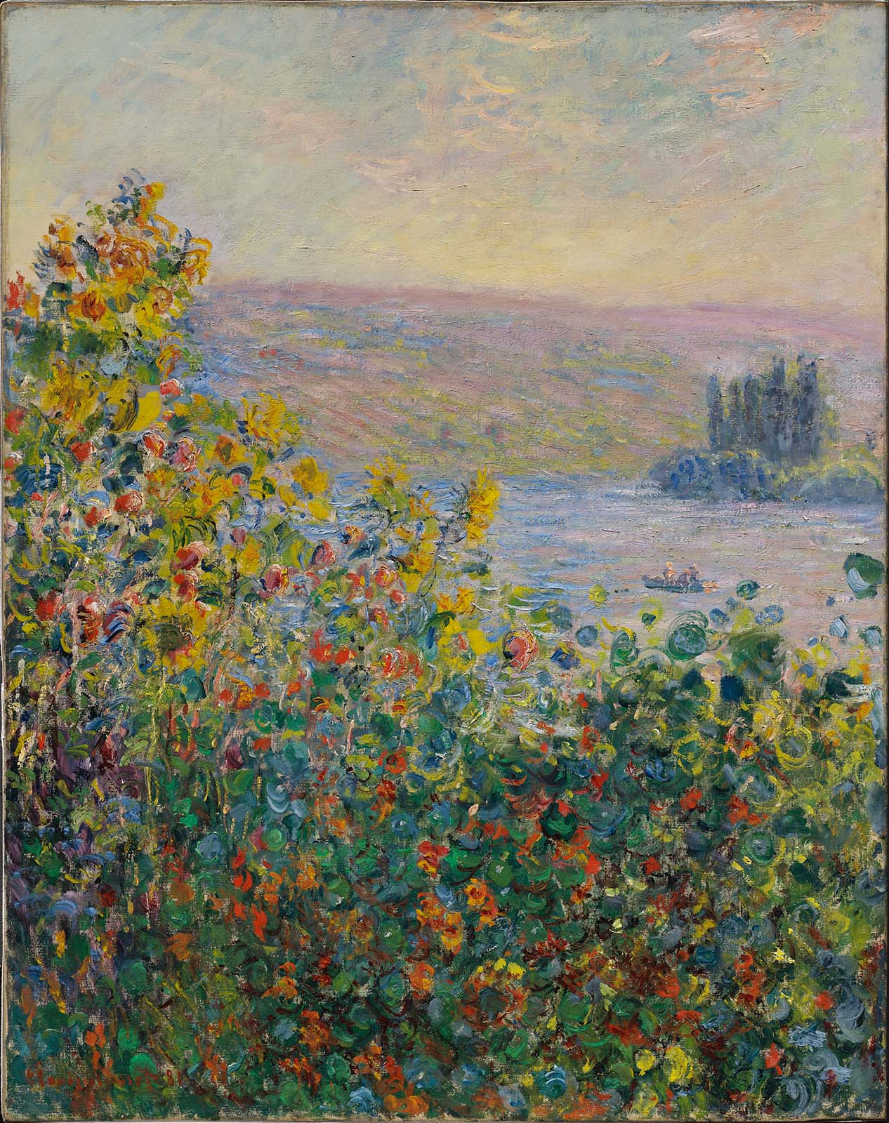 Claude Monet - Flowers Beds at Vetheuil 1881