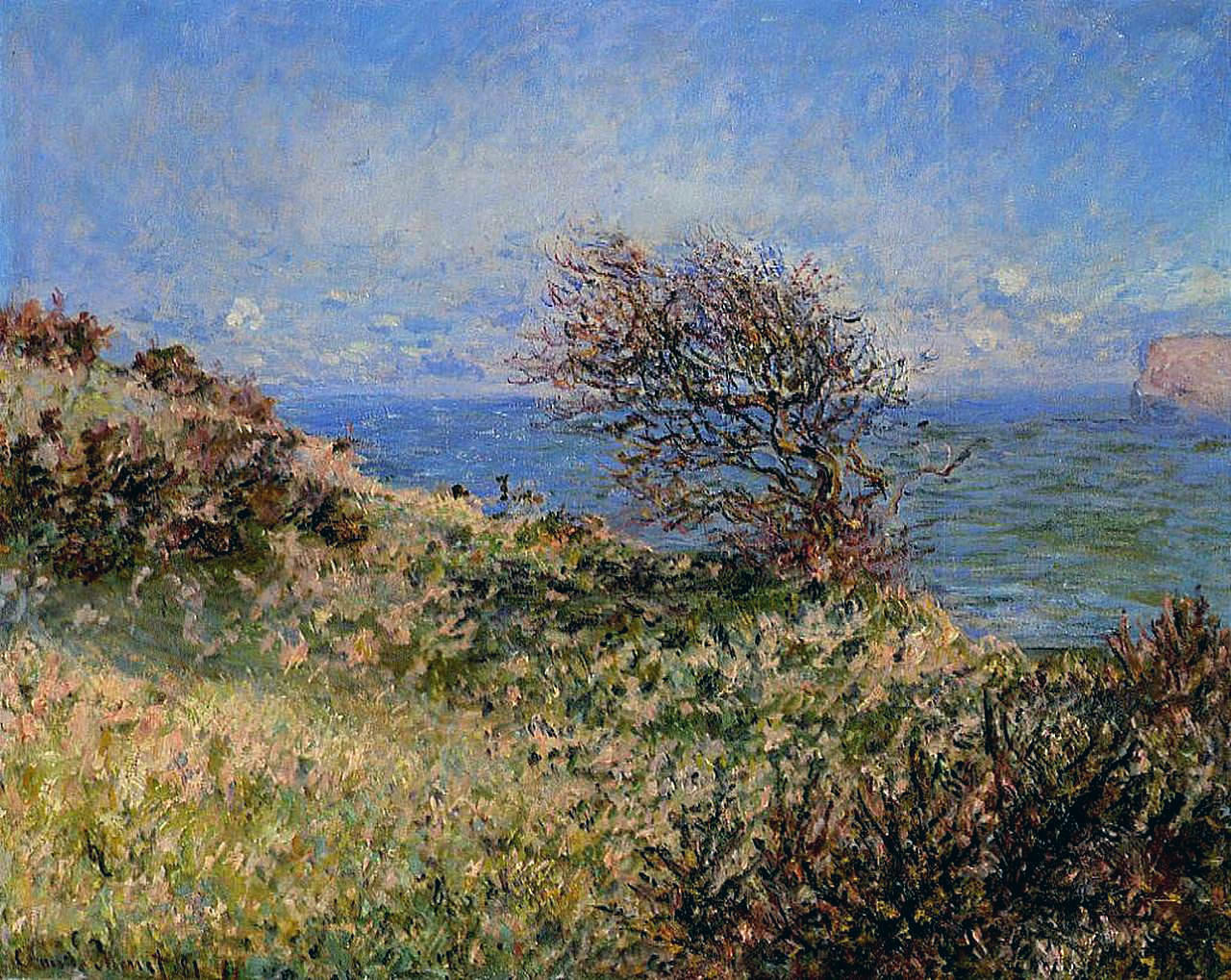 Claude Monet - On the Cliff at Fecamp 1881