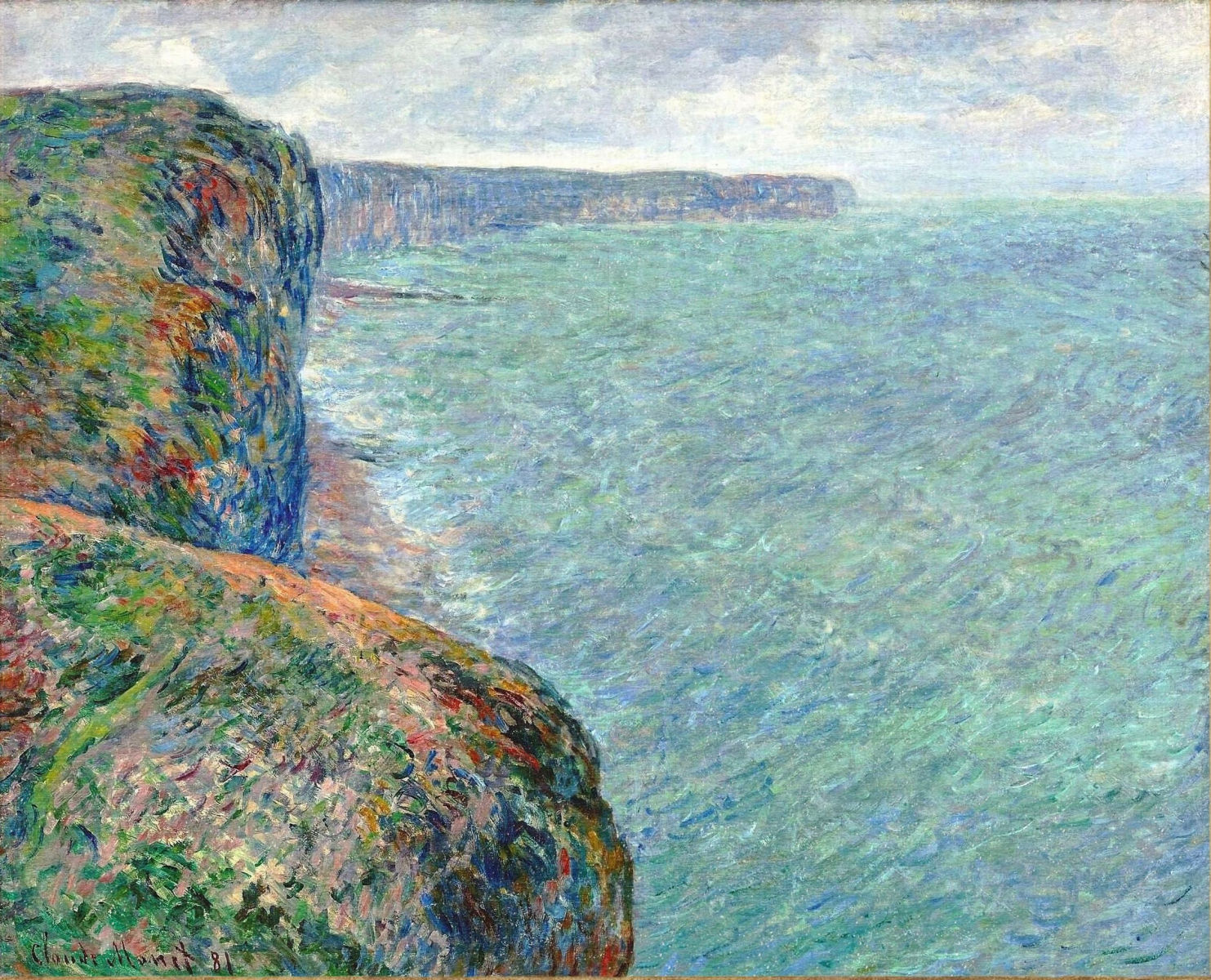 Claude Monet - The Sea Seen from the Cliffs of Fecamp 1881