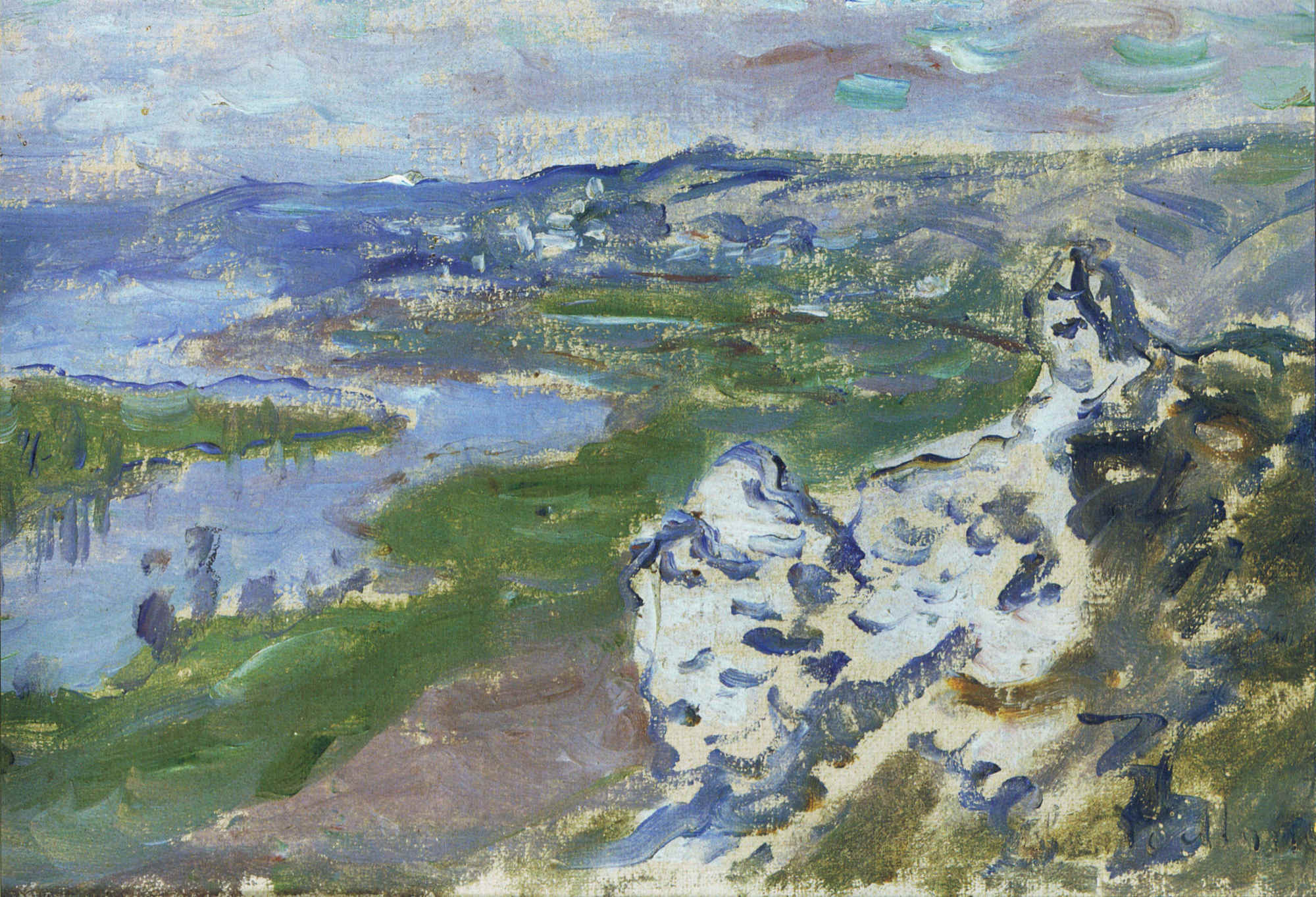 Claude Monet - The Seine, seen from the heights Chantemesle 1881