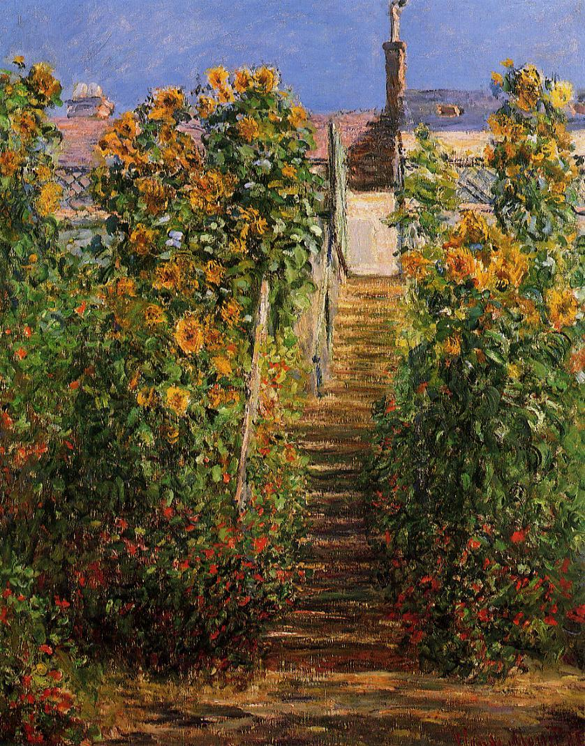 Claude Monet - The Steps at Vetheuil 1881