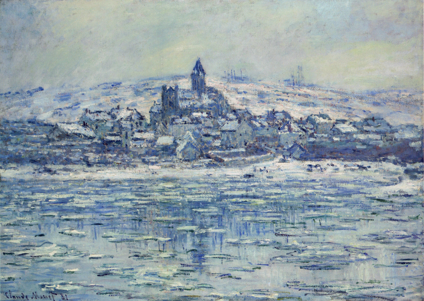 Claude Monet - Vetheuil, Ice Floes 1881