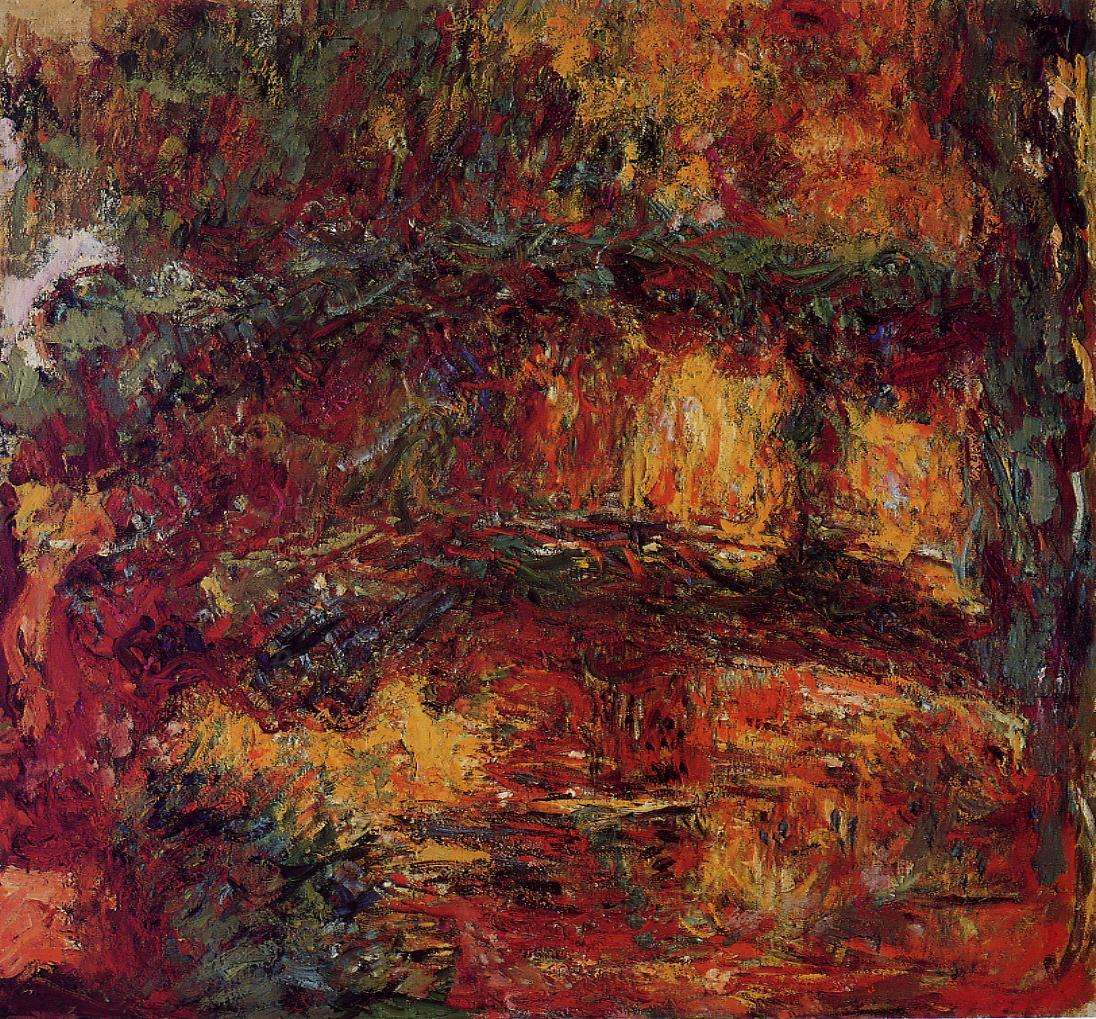 Claude Monet, picture The Japanese Bridge at Giverny 1926 ...