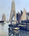 Claude Monet - Sailing Boats at Honfleur 1866
