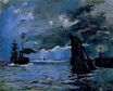 Claude Monet - Seascape, Night Effect 1866