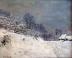 Claude Monet - The Road in front of Saint-Simeon Farm in Winter 1867