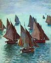 Claude Monet - Fishing Boats, Calm Sea 1868