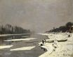 Claude Monet - Ice Floes on the Seine at Bougival 1868