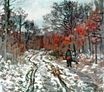 Claude Monet - Path through the Forest, Snow Effect 1870