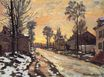 Claude Monet - Road at Louveciennes, Melting Snow, Sunset 1870