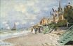 Claude Monet - The Boardwalk on the Beach at Trouville 1870