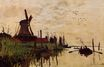 Claude Monet - Windmill at Zaandam 1871