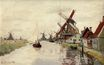 Claude Monet - Windmills in Holland 1871