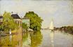 Claude Monet - Houses on the Achterzaan 1871