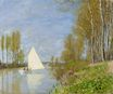 Claude Monet - Small Boat on the Small Branch of the Seine at Argenteuil 1872