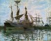 Claude Monet - Ships in Harbor 1873