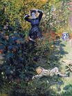 Claude Monet - Camille and Jean Monet in the Garden at Argenteuil 1873