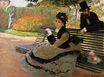 Claude Monet - Camille Monet on a Garden Bench 1873