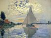 Claude Monet - Sailboat at Le Petit-Gennevilliers 1874