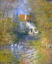 Claude Monet - Geese in the creek 1874