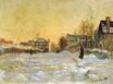 Claude Monet - Snow Effect, The Street in Argentuil 1875