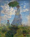 Claude Monet - The Promenade, Woman with a Parasol 1875
