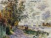 Claude Monet - The Riverbank at Petit-Gennevilliers 1875