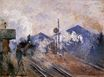 Claude Monet - Saint-Lazare Station, Track Coming out 1877