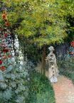 Claude Monet - The Garden, Hollyhocks 1877