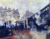 Claude Monet - The Pont de l'Europe, Gare Saint-Lazare 1877