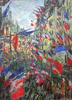 Claude Monet - The Rue Montargueil with Flags 1878