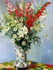 Claude Monet - Bouquet of Gadiolas, Lilies and Dasies 1878