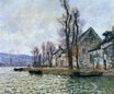 Claude Monet - The Bend of the Seine at Lavacourt, Winter 1879
