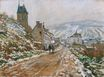 Claude Monet - The Road in Vetheuil in Winter 1879