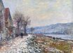 Claude Monet - The Siene at Lavacourt, Effect of Snow 1879