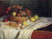 Claude Monet - Fruit Basket with Apples and Grapes 1879