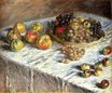 Claude Monet - Still Life with Apples And Grapes 1879