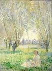 Claude Monet - Woman Sitting under the Willows 1880