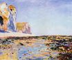 Claude Monet - Beach and Cliffs at Pourville, Morning Effect 1882