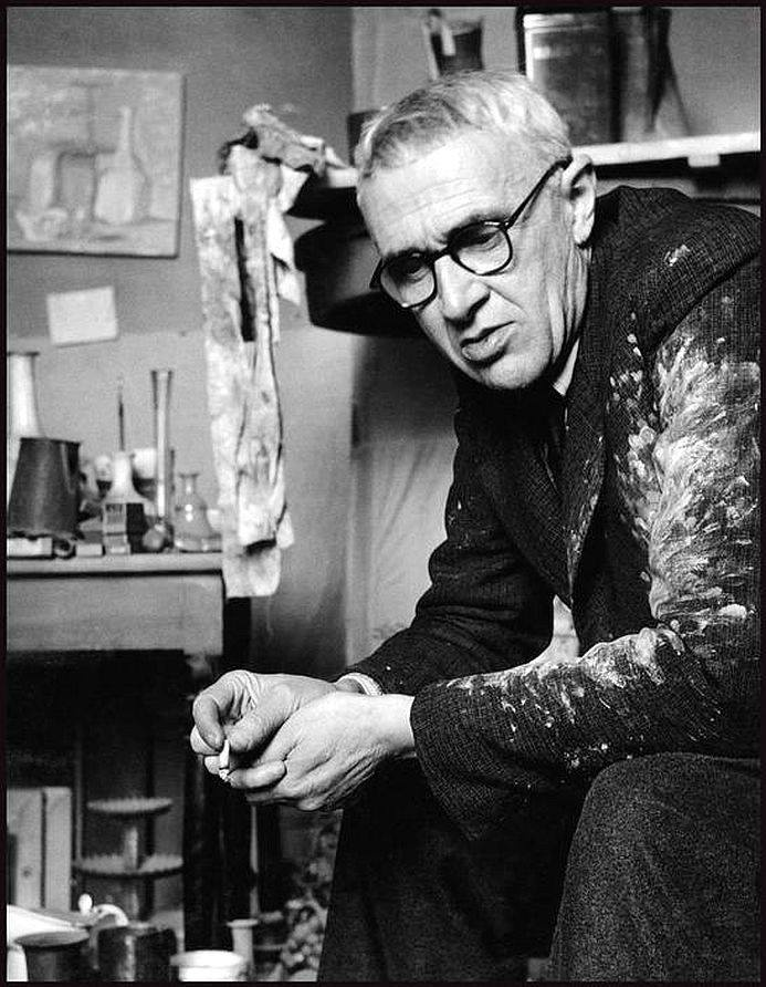 Giorgio Morandi in his Studio Photo by Herbert List