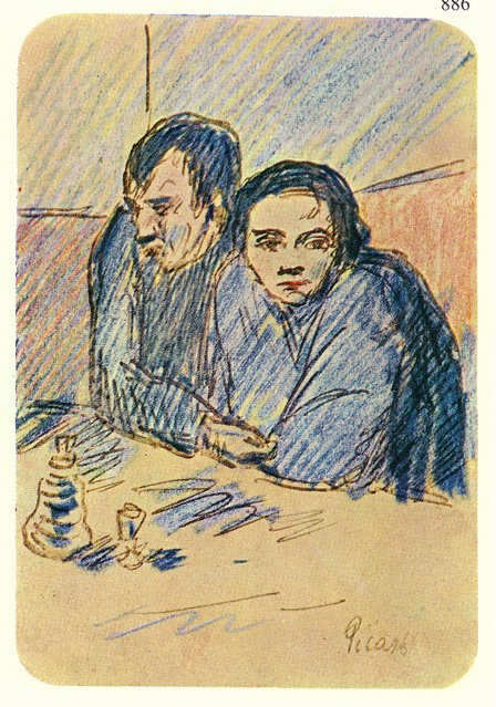 Man and woman in cafe. Study 1903