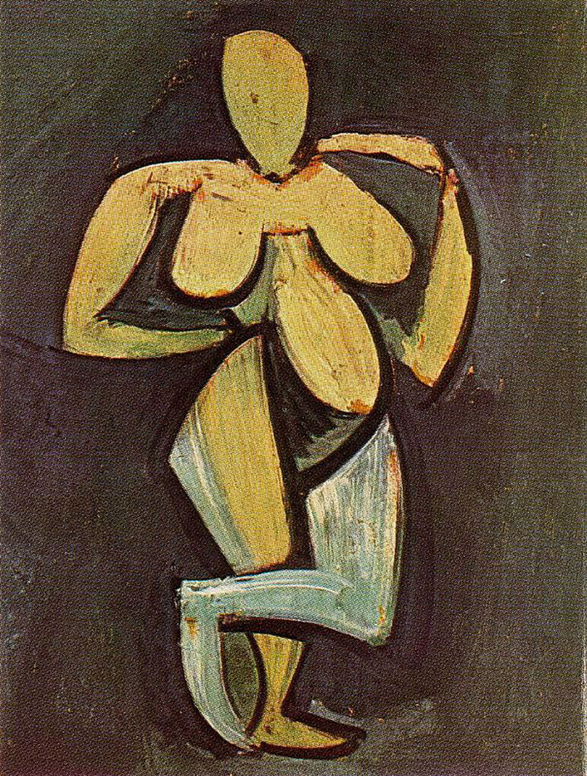 Standing female nude 1908