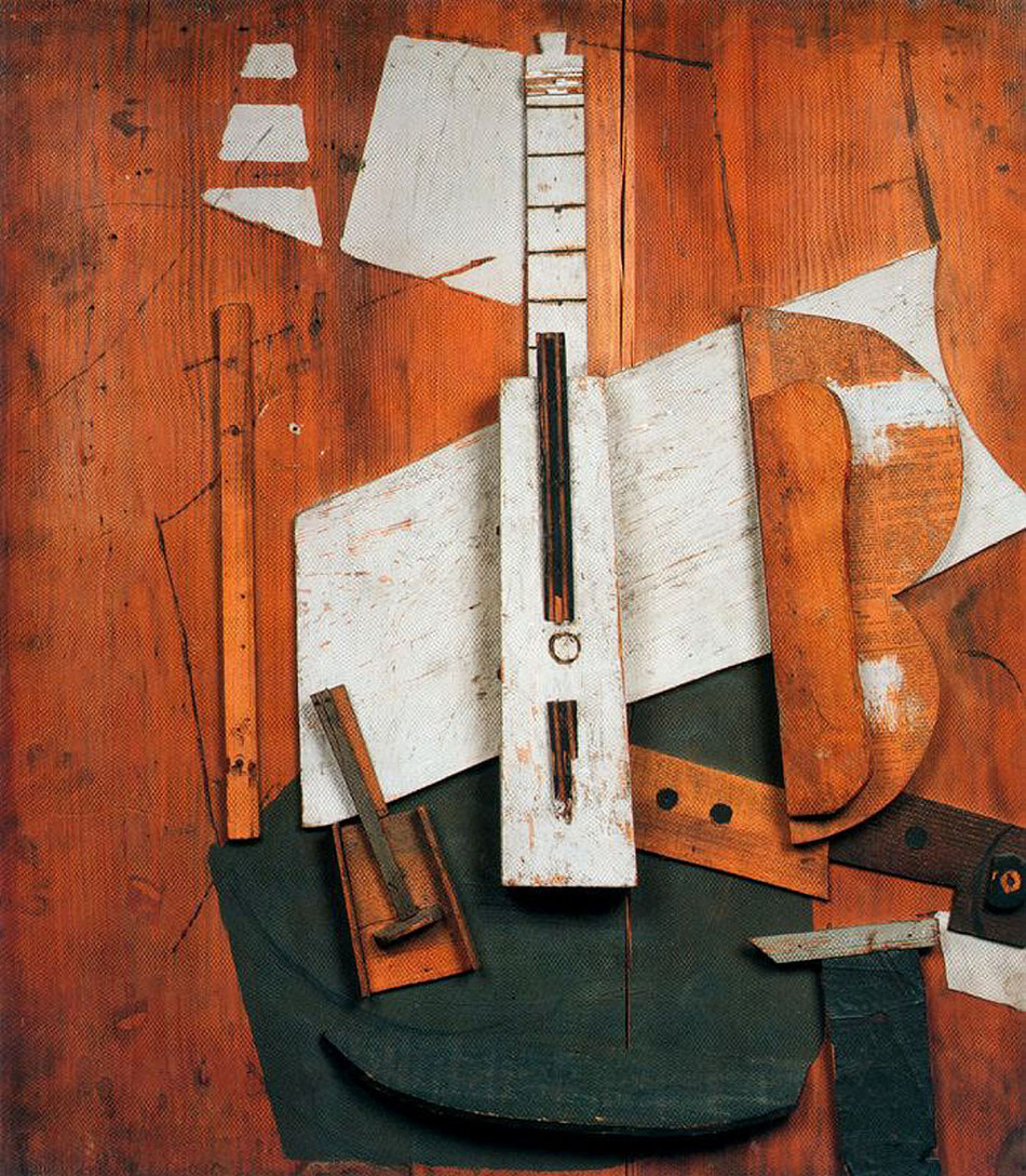 Guitar and bottle 1913