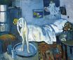A blue room. A tub 1901